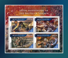 MALDIVES 2016 ** Battle Of Verdun Schlacht Um Verdun Bataille De Verdun M/S - OFFICIAL ISSUE - A1707