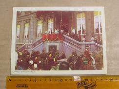 Chromo AIGLON N° 8 Photogravure SOUVERAINS ET PRINCES Belgique Roi Léopold 3 Famille Royale Chocolat Trading Card - Aiglon
