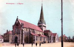 Cpa (02) Etreaupont - L Eglise(  Tres Belle Carte Ra..)