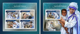 MALDIVES 2016 ** Mother Teresa Mutter Teresa Mere Teresa M/S+S/S - OFFICIAL ISSUE - A1707