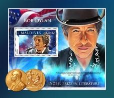 MALDIVES 2016 ** Bob Dylan Nobel Prize Nobelpreisträger Prix Nobel S/S - IMPERFORATED - A1707