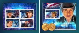 MALDIVES 2016 ** Bob Dylan Nobel Prize Nobelpreisträger Prix Nobel M/S+S/S - IMPERFORATED - A1707