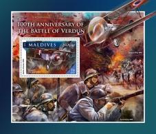 MALDIVES 2016 ** Battle Of Verdun Schlacht Um Verdun Bataille De Verdun S/S - IMPERFORATED - A1707