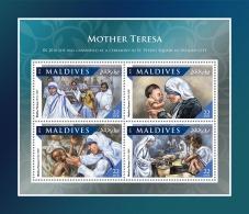 MALDIVES 2016 ** Mother Teresa Mutter Teresa Mere Teresa M/S - IMPERFORATED - A1707 - Mother Teresa