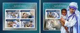 MALDIVES 2016 ** Mother Teresa Mutter Teresa Mere Teresa M/S+S/S - IMPERFORATED - A1707 - Mother Teresa
