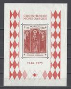 MONACO . YT Bloc 7 Neuf ** XXVe Anniversaire De La Fondation De La Croix-Rouge Monégasque 1973