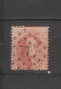 COB 16A Oblitéré Pt 77 Charleroi Catalogue COBA 2016 +3 - 1863-1864 Medallones (13/16)