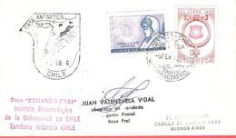 """CHILI - Territoire Antarctique - Base """"Eduardo Frei"""" - Institut Météorologique De L'Université Du Chili - 1976 - Timbres"""