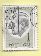 TIMBRES - STAMPS - PORTUGAL - 1971 - SALAZAR - TIMBRE OBLITÉRÉ