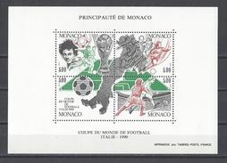 MONACO . YT Bloc 50 Neuf ** Coupe Du Monde Football En Italie 1990