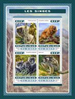 NIGER 2016 ** Monkeys Affen Singes M/S - OFFICIAL ISSUE - A1707