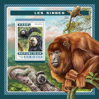 NIGER 2016 ** Monkeys Affen Singes S/S - OFFICIAL ISSUE - A1707