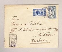 Türkei Konstantinopel 30.9.1921 Sirkedji R-Brief Nach Wien Frankiert Vorder Und Rückseite - 1858-1921 Empire Ottoman