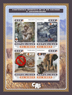 NIGER 2016 ** Parrot Papagei Perroquet COP17 CITES M/S - OFFICIAL ISSUE - A1707
