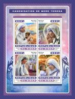 NIGER 2016 ** Canonization Mother Teresa Heiligsprechnung Mutter Teresa M/S - OFFICIAL ISSUE - A1707