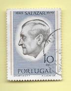 TIMBRES - STAMPS - PORTUGAL - 1971 - SALAZAR - TIMBRE OBLITÉRÉ CLÔTURE DE SÉRIE