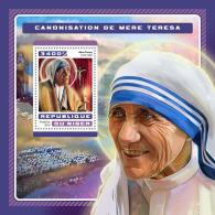 NIGER 2016 ** Canonization Mother Teresa Heiligsprechnung Mutter Teresa S/S - OFFICIAL ISSUE - A1707
