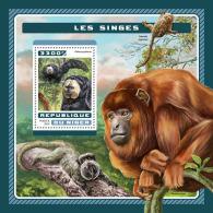 NIGER 2016 ** Monkeys Affen Singes S/S - IMPERFORATED - A1707