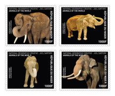 NIGER 2016 ** Elephant Elefanten 4v - IMPERFORATED - A1707