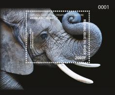 NIGER 2016 ** Elephant Elefanten S/S - IMPERFORATED - A1707