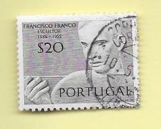 TIMBRES - STAMPS - PORTUGAL - 1971 - SCULPTEURS PORTUGAIS - FRANCISCO FRANCO - TIMBRE OBLITÉRÉ
