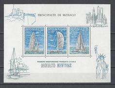 MONACO . YT Bloc 32 Neuf ** Course Transatlantique Monaco-New York à La Voile 1985