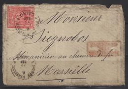 Cairo Par Paquebot Pour Marseille ( Devant De Lettre ) - 1861-78 Vittorio Emanuele II