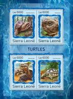 SIERRA LEONE 2016 ** Turtles Schildkröten Tortues M/S - OFFICIAL ISSUE - A1707