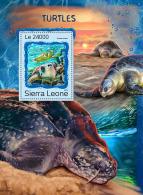 SIERRA LEONE 2016 ** Turtles Schildkröten Tortues S/S - OFFICIAL ISSUE - A1707