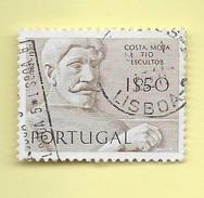 TIMBRES - STAMPS - PORTUGAL - 1971 - SCULPTEURS PORTUGAIS - COSTA MOTA TIO - TIMBRE OBLITÉRÉ