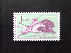 CHECOSLOVAQUIA TCHÉCOSLOVAQUIE 1966 Chasse Au  Bison  Yvert 1496 ** MNH
