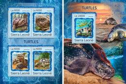 SIERRA LEONE 2016 ** Turtles Schildkröten Tortues M/S+S/S - OFFICIAL ISSUE - A1707