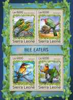 SIERRA LEONE 2016 ** Bee-eaters Bienenfresser Guepiers M/S - OFFICIAL ISSUE - A1707