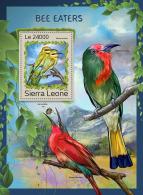 SIERRA LEONE 2016 ** Bee-eaters Bienenfresser Guepiers S/S - OFFICIAL ISSUE - A1707
