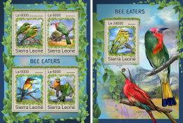 SIERRA LEONE 2016 ** Bee-eaters Bienenfresser Guepiers M/S+S/S - OFFICIAL ISSUE - A1707