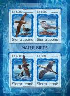 SIERRA LEONE 2016 ** Water Birds Wasservögel Oiseaux Aquatiques M/S - OFFICIAL ISSUE - A1707