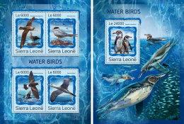 SIERRA LEONE 2016 ** Water Birds Wasservögel Oiseaux Aquatiques M/S+S/S - OFFICIAL ISSUE - A1707