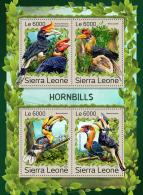 SIERRA LEONE 2016 ** Hornbills Nashornvögel Calao M/S - OFFICIAL ISSUE - A1707
