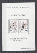 MONACO . YT Bloc 35 Neuf ** Coupe Du Monde De Football Au Mexique 1986