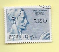 TIMBRES - STAMPS - PORTUGAL - 1971 - SCULPTEURS PORTUGAIS - RUI GAMEIRO - TIMBRE OBLITÉRÉ