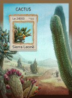 SIERRA LEONE 2016 ** Cactus Kakteen S/S - OFFICIAL ISSUE - A1707