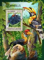 SIERRA LEONE 2016 ** Hornbills Nashornvögel Calao S/S - IMPERFORATED - A1707