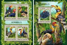 SIERRA LEONE 2016 ** Hornbills Nashornvögel Calao M/S+S/S - IMPERFORATED - A1707