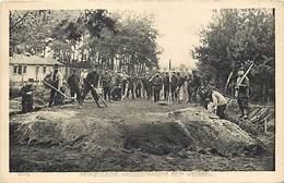 Guerre 1914-18 -ref L387- Prisonniers Francais En Allemagne - Travaux De Terrassement - Carte Bon Etat   - - Weltkrieg 1914-18