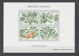 MONACO . YT Bloc 54 Neuf ** Les Quatre Saisons De L'oranger 1991