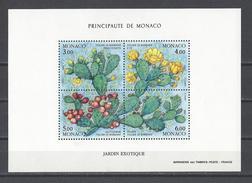 MONACO . YT Bloc 55 Neuf ** Les Quatre Saisons Du Figuier De Barbarie Du Jardin Exotique 1992