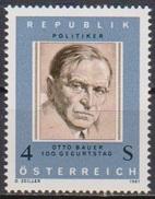 Österreich  1981 Nr.1678 ** Postfrisch 100. Geb. Otto Bauer ( 4367 )