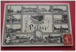 Cp  Poissy  Souvenir De Multivues - Poissy