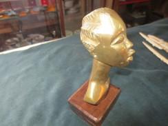 Bronze  Tete De Femme - Art Africain