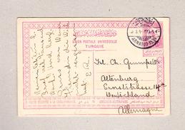 Türkei Bebek 8.9.1912 Ganzsache Nach Altenburg D - Lettres & Documents